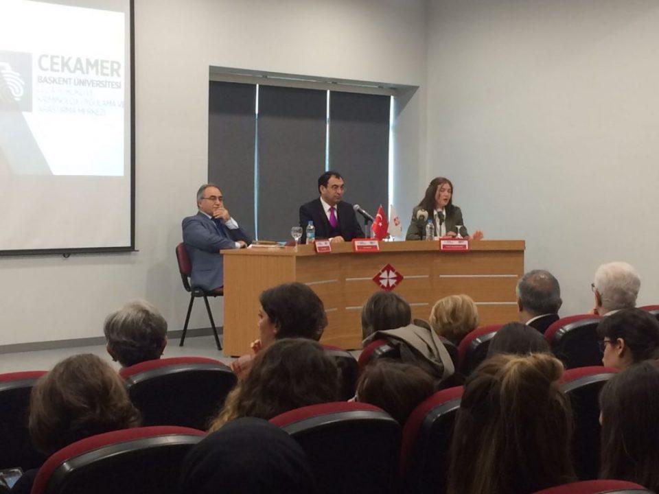 """Av. Prof. Dr. Vahit Bıçak Başkent'te Kadınlar Haftasında """"Cinselliğe Kavramsal Bakış"""" konulu oturumu yönetti."""