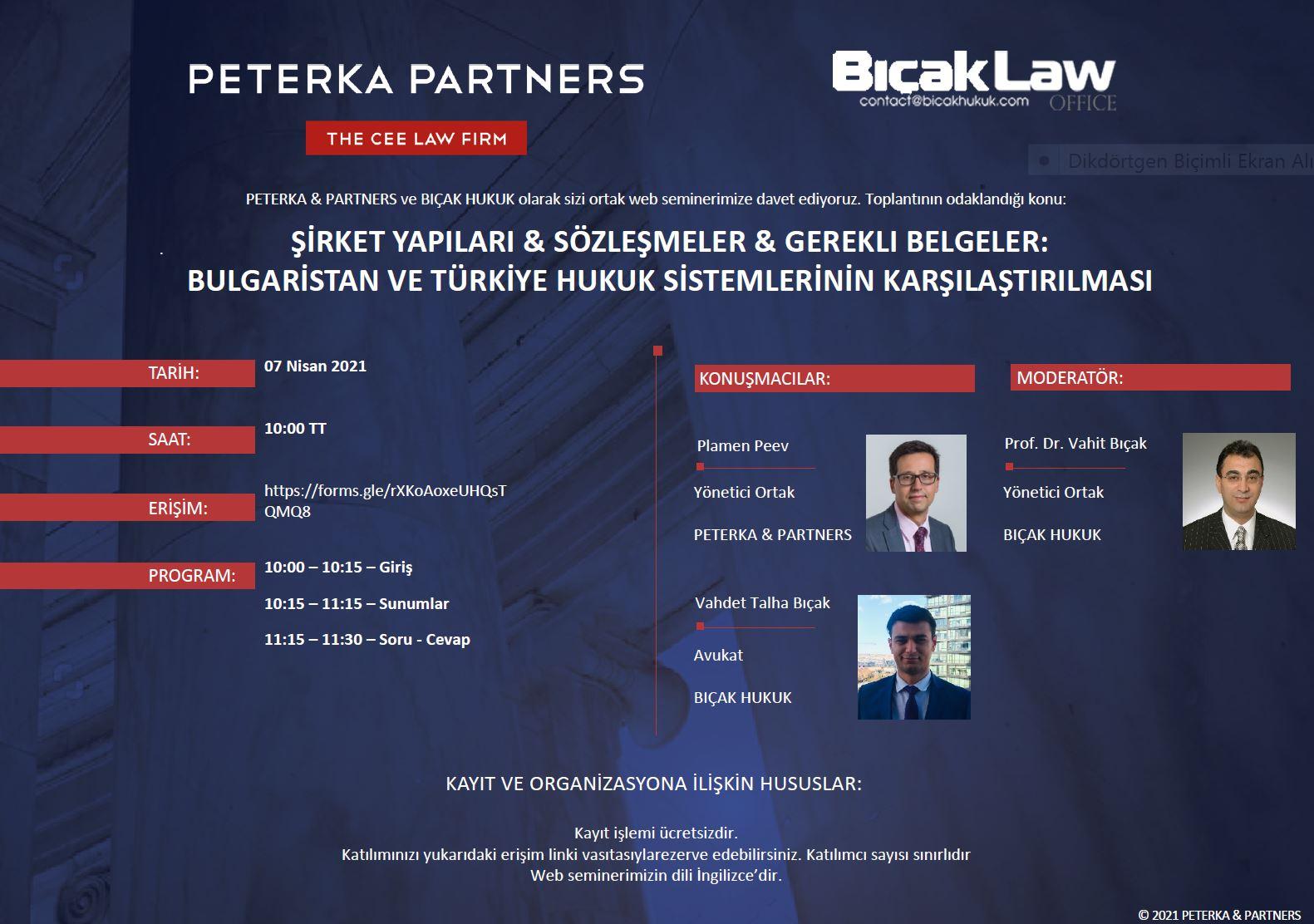 Bulgaristan Türkiye Hukuk Webinar